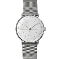2015 new dressed stainless steel relojes de mujer ultra thin watches