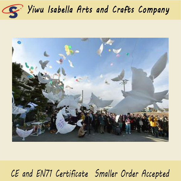 95*48cm Wedding helium inflatable white Dove Shape Balloons for wedding decoration doves shaped