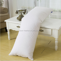 Comfortable bedding set white goose down feather body pillow