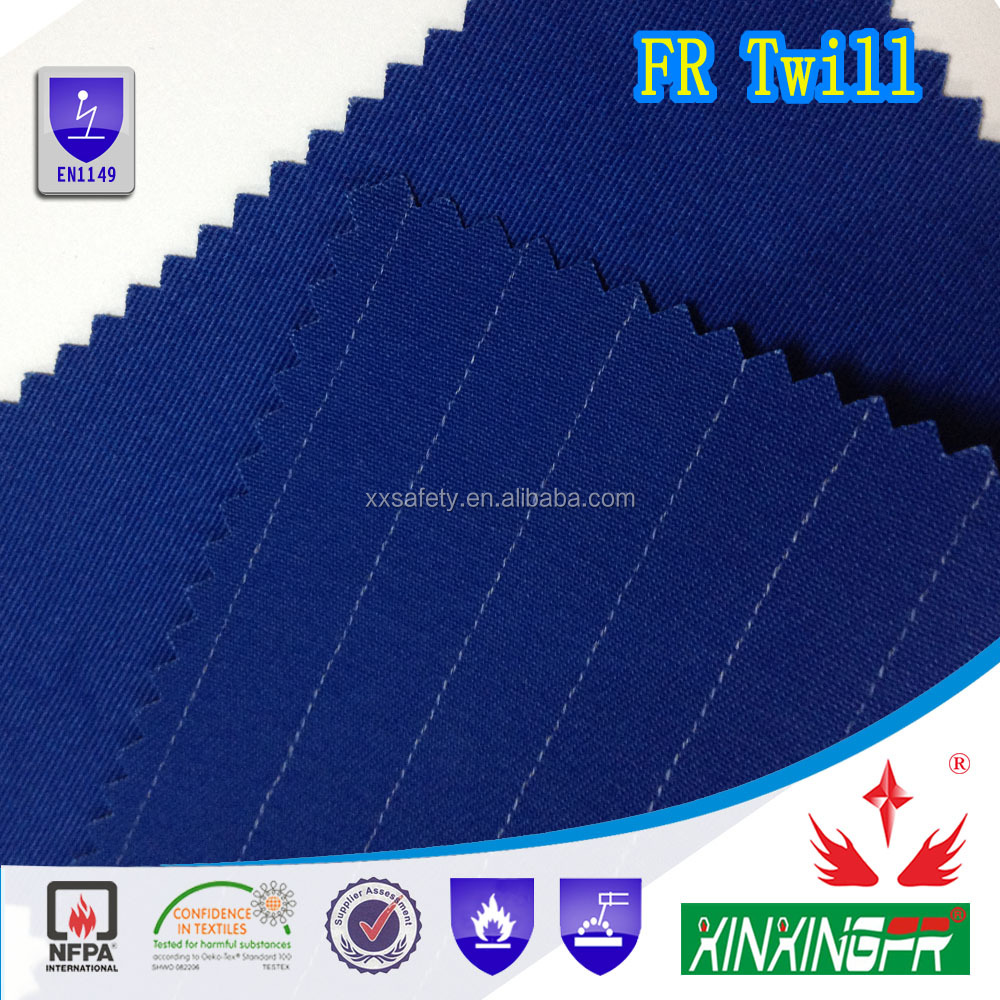 EN14116 100%cotton fireproof brushed satin textile for fashion clothes