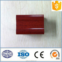 red wood finish aluminium extrusion profile