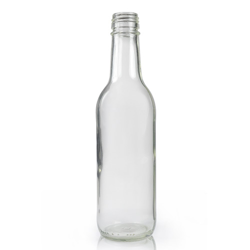High Quality 500ml Custom Clear Glass 330ml Beer Bottle with Crown Cap