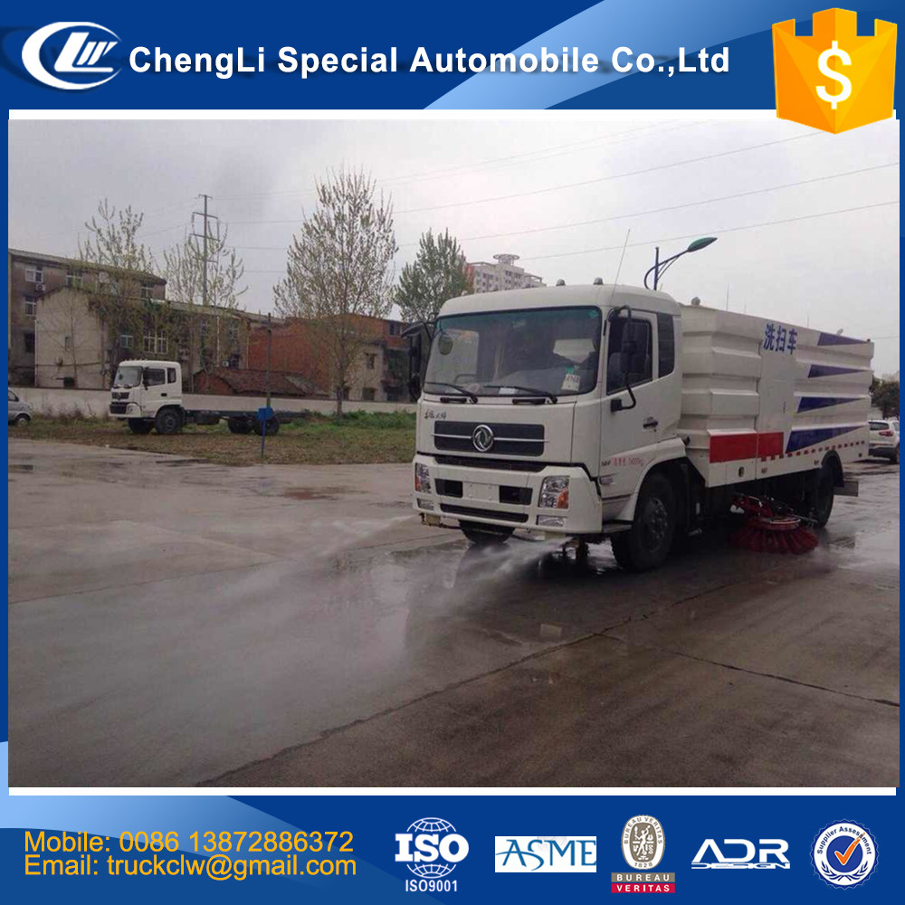 CN Quality Assurance 4x2 High Pressure Road Washing and Sweeping Truck Vacuum Road Sweeper Truck /Street cleaning truck