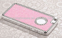 Luxury hot pink diamond bling chrome hard case cover for iphone 5 5""