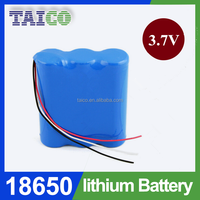 1S3P 3.7v rechargeable battery Lithium ion 18650 6000mah Li-ion Battery Pack for for flashlight torch portable devices