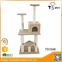 Different Colors Sisal Indoor Cat Tree House