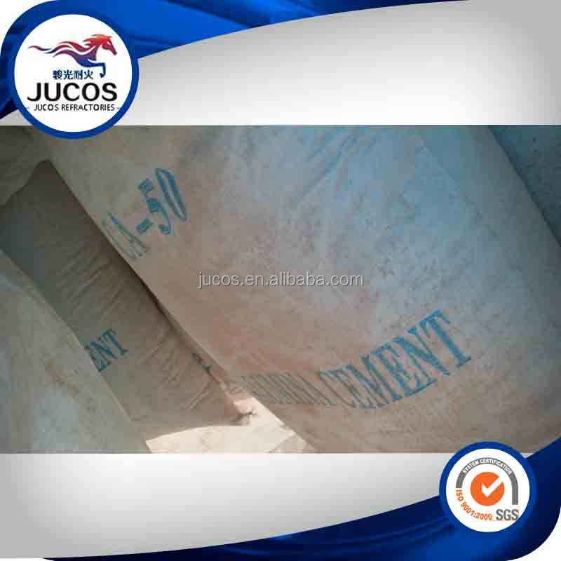 High strength calcium alumina cement used for making refractory castable