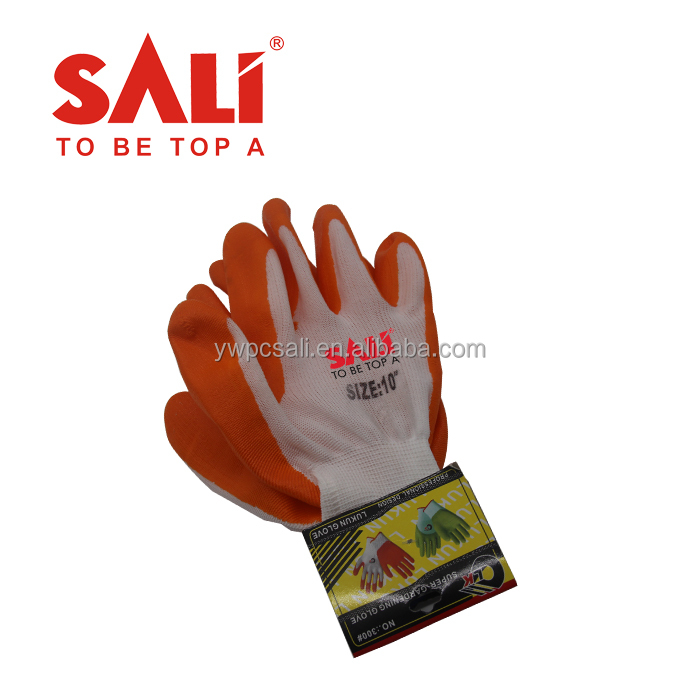 Durable China Supplier natural rubber coated protective gloves for oil proof,hand gloves for construction work