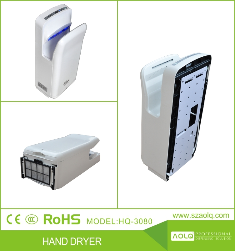Popular Jet Air Hand Dryer with Brushless Motor 30,000RPM and CE CB Certifications