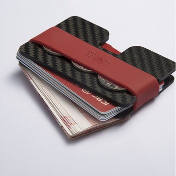 2017 new back carbon fiber wallet with rfid blocking