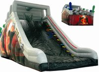 kids plastic toy castle/inflatable bouncy castle slide