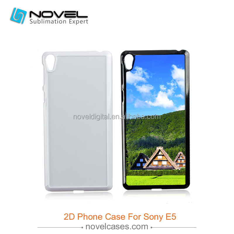 New Sublimation Phone Case For Sony E5, 2D Plastic Phone Cover