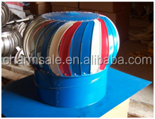 Colored steel Powerless Roof mounted fan/ no power roof ventilation fan