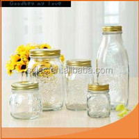 Best Selling High quality cheap clear glass candy jar from gold supplier made in China