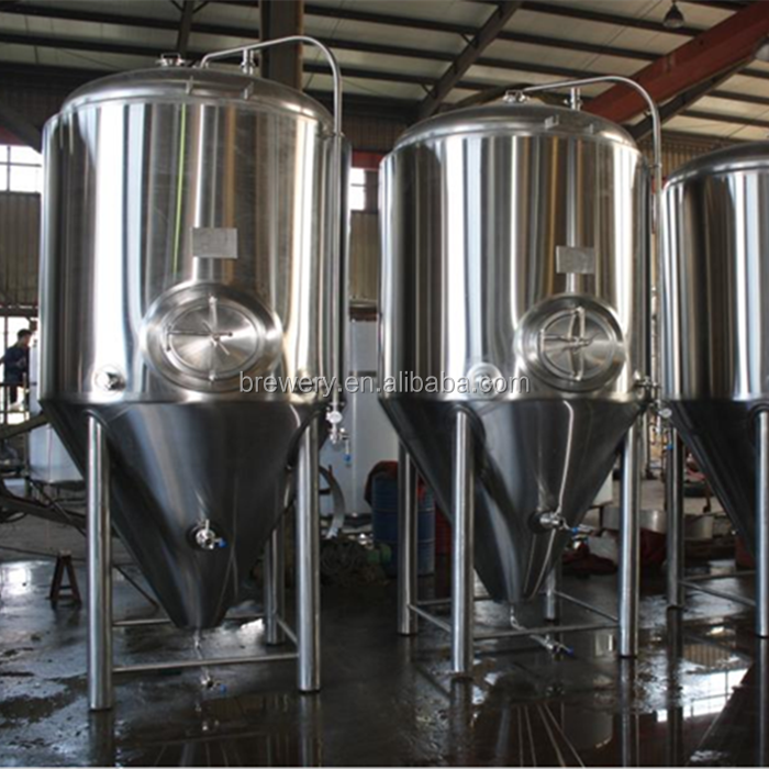 1000l Fermentation Vessel Jacketed Fermenter For Beer Brewery