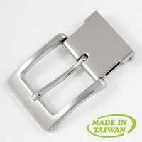 Reversible man nickel alloy press clip large police belt buckle