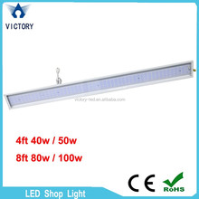 LED Wholesaler price LED 8 tube free Japanese tube 8FT 4FT LED shop lighting with full fixture