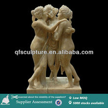Factory Stock Three Bathing Roman Maidens Marble Statue