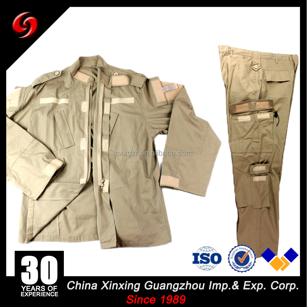 Custom color khaki army uniform military uniforms with high colorfastness