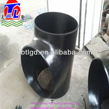"carbon steel pipe fittings tee 4"" sch 40 seamless type but welded connection"