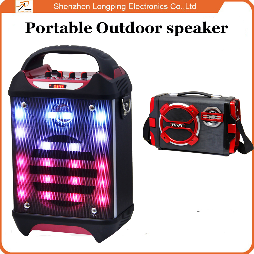 Cheap portable outdoor subwoofer speaker with rechargeable battery