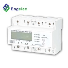 DTS238-7 ZN three phase rs485 wireless power meter, remote control smart power meter four rate multi function