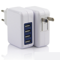 Promotional 4 Port  2.1A Quickly Adapter, Universal EU US Plug Portable Travel Wall Charger