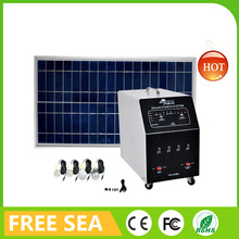 Energy Saving 150W Solar Home Hybrid Power System For DC Fan TV Phone Charging