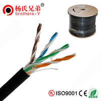 China Wholesale Direct Burial UTP/FTP CAT5E/CAT6/CAT6A Copper Single PE 305m/Reel Outdoor Lan Cable