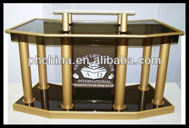 RD-532 Hot Sell Glass Pulpit;Church Pulpit Glass;Modern Pulpit