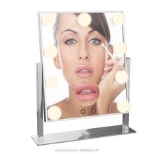 2018 Smart mirror Table Top Lighted Beauty Salon Glam LED Hollywood Vanity Makeup Mirror with Lights Bulbs