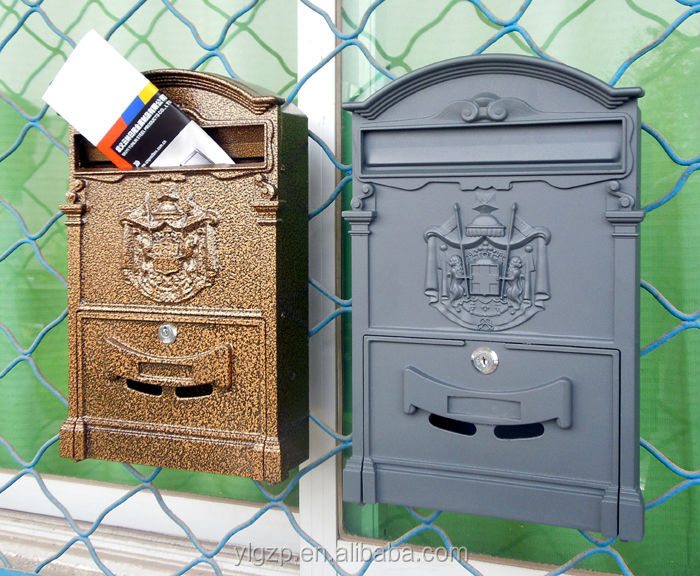 Cast-aluminum durable letterbox mailbox stone stands