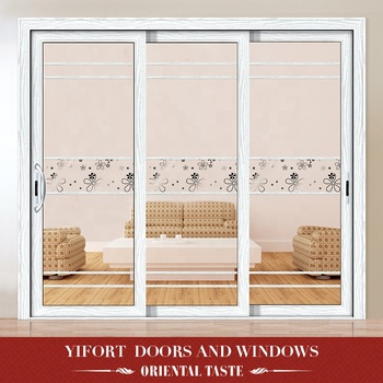 Custom white aluminium dressing room sliding glass door