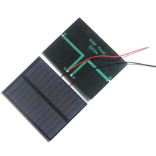 BUHESHUI 1.2W 6V Solar Cell Module+Wire/Cable Polycrystalline DIY Solar Panel Charger For 3.7V Battery Study Epoxy 112*84MM