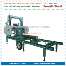 Horizontal Wood Cutting Saws Electric Portable Sawmill