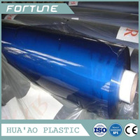 super blue transparent pvc film roll for hand bags making