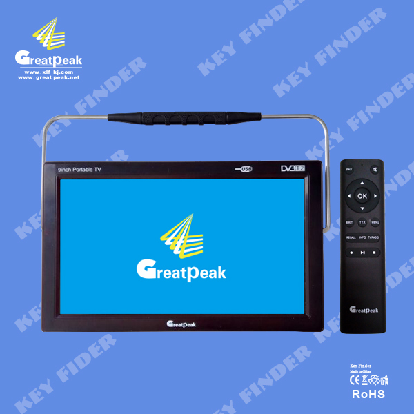 9 inch portable mpeg4 dvb-t dvb-t2 lcd digital hd tv, with analog TV and digital TV all in 1, USB, TF card reader