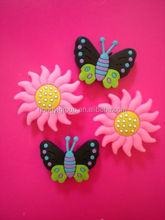 Various flower plastic shoes buckles charms