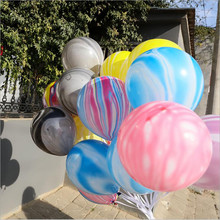Ready to ship <strong>12</strong> inch Rainbow Latex helium Balloons