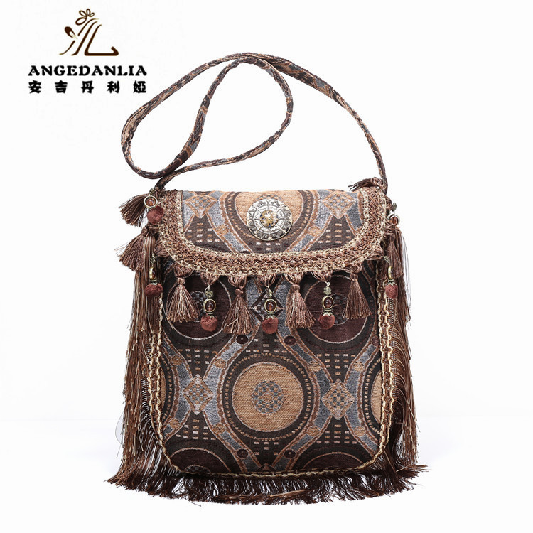 2016 angedanlia ethnic messenger wholesales tassel bag for women