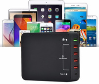 top sale battery quick charger 6-port USB charging dock station