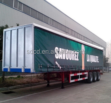 3 axle trailer camper 40ton load Side Curtain cargo trailer 40ft curtain side truck trailer for sale