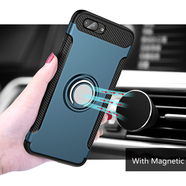 New 360 Degrees Rotation With Ring Grip Holder Mobile Cover Phone Case For iPhone 8