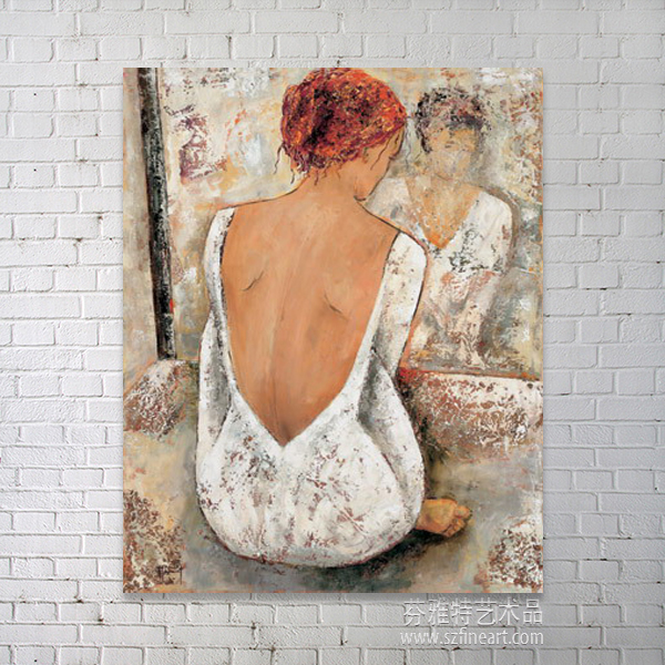 modern style naked woman painting Chinese