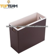 Stationery Holder, Desktop Accessories, Faux Leather Filing Box