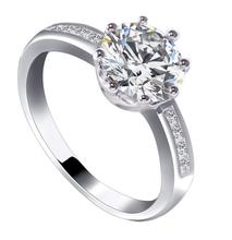 Zircon Simulated Diamond King Crown Ring for Women Fashion Jewelry