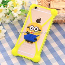 3D Cartoon Silicone Despicable Me Minions Universal Cover Case for iphone 6 4.7inch for iphone6