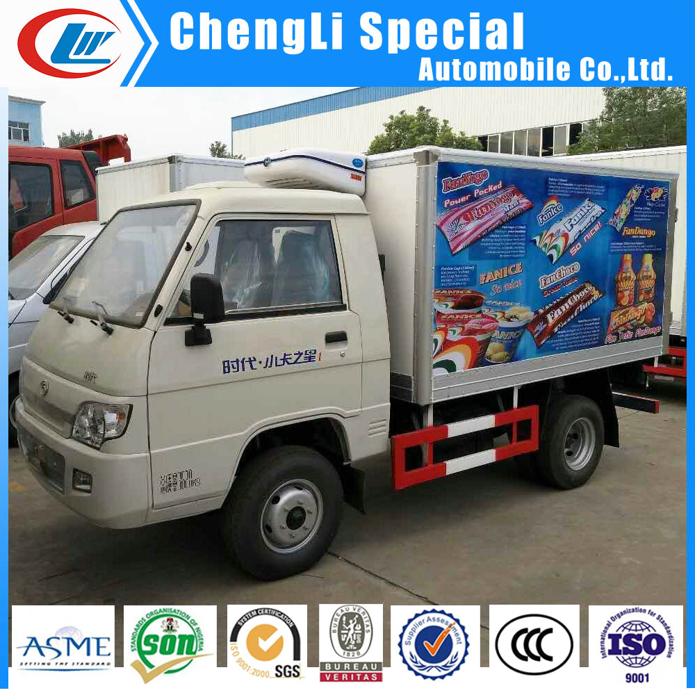 Foton 1.5tons Mini cooling Van truck used cooler truck cooling box 4*2 for sale