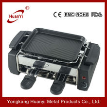 hot selling 800W temperature controlled electric bbq grill with hot pot