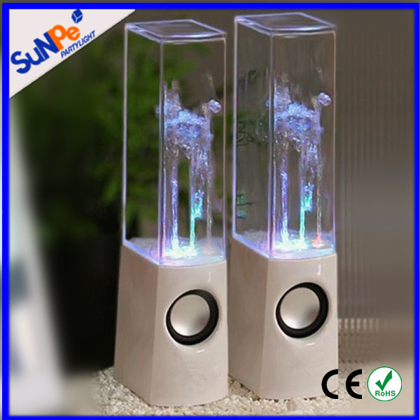 Dancing water stereo speaker with LED color light flash mini home theater